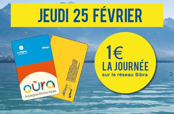 """Pass Journée """"Air Pur"""" sur le Réseau Sibra - Annecy Agglomération (74)"""