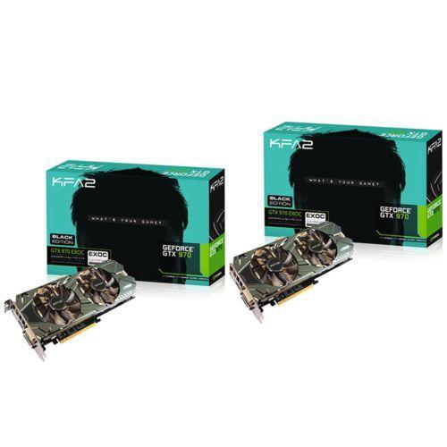 Lot de 2 Cartes graphiques KFA2 GeForce GTX 970 Exoc 4 Go Black Edition + Jeu Tom Clancy's The Division offert