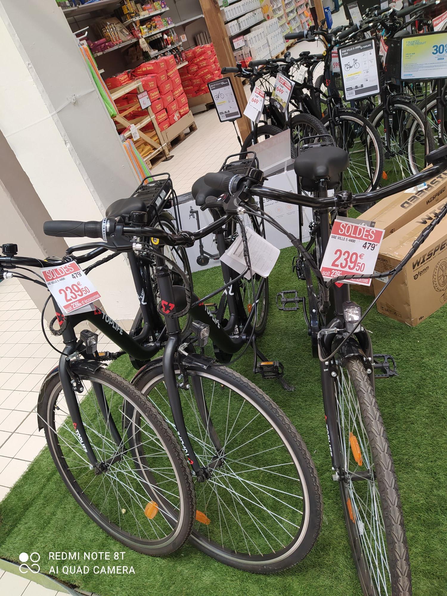 """Vélo à assistance électrique 28"""" TopLife VAE E-4400 - 36 V, 10 Ah, 250 W (Illzach 68)"""
