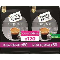Pack de 120 dosettes de café Carte Noire compatibles Senseo - différentes variétés