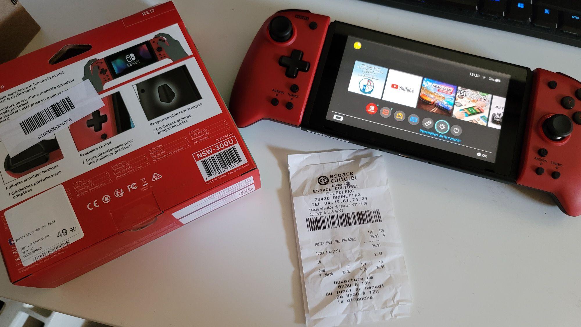 Split Pad Pro pour Nintendo Switch - Rouge (Drumettaz 73)
