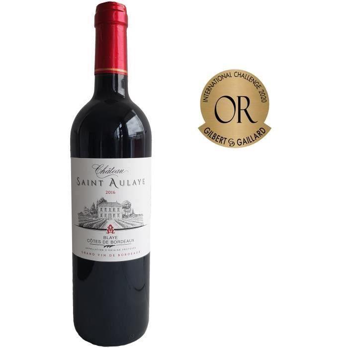 Bouteille de vin rouge Château Saint Aulaye 2016 Côtes de Bordeaux - 75 cl