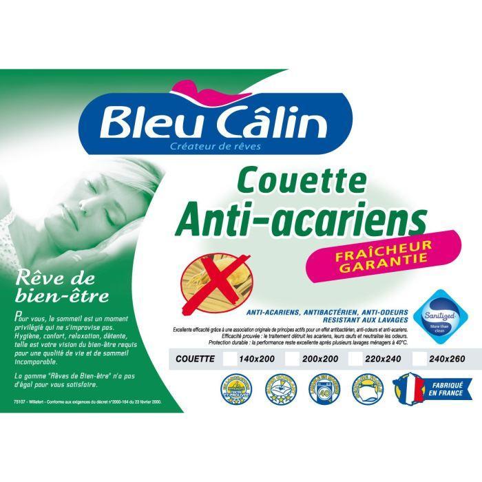 Couette Bleu Calin Sanitized (140 x 200 cm) - en microfibre