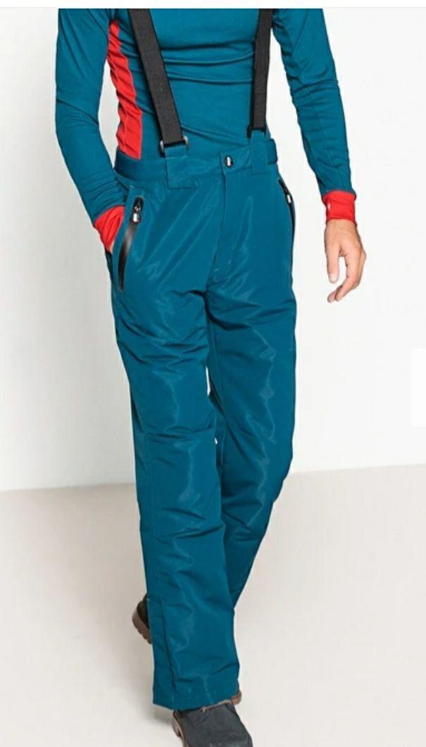Pantalon de ski homme à bretelles ajustables - bleu, rouge ou noir