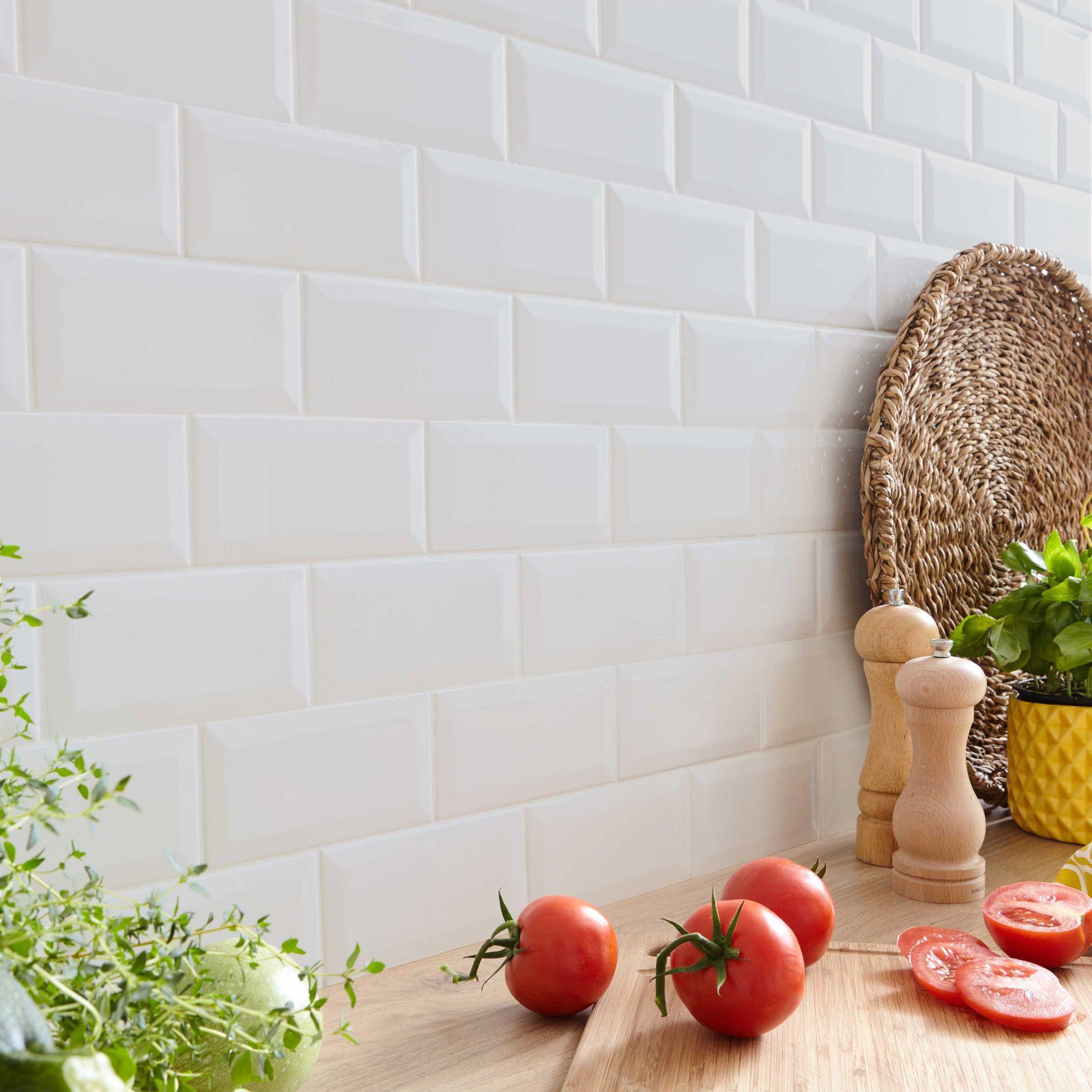 Carrelage Mur Metro Artens Forte - Blanc, l.7.5 x L.15 cm (le m²)