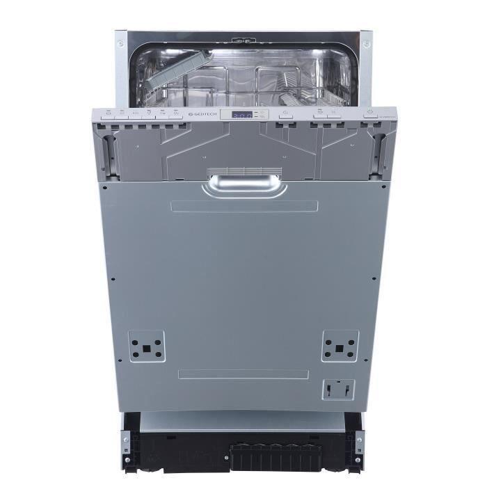 Lave vaisselle encastrable Gedtech GLV649FULL - 9 Couverts, 45cm (vendeur tiers)