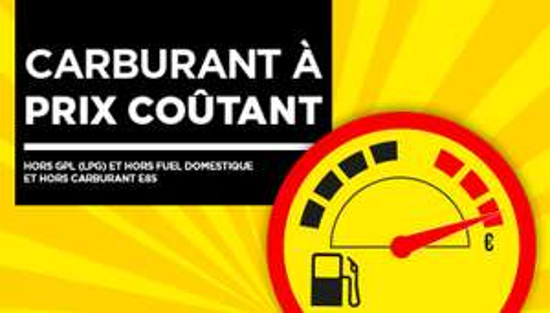 Carburant à prix coûtant