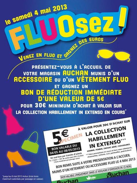 Venez en fluo et gagnez un bon de réduction de 5€ dès 30€ d'achats sur la collection In Extenso