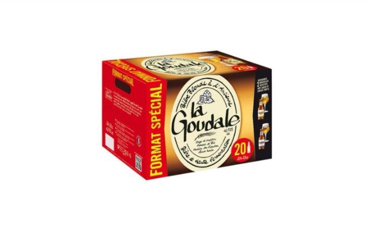 Pack de 20 bouteilles de 25cl de bière blonde La Goudale - (20x25cl)