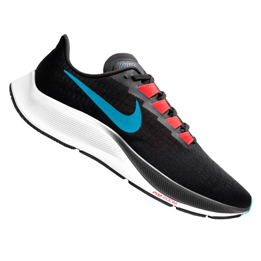 Chaussures de course à pied Nike Air Zoom Pegasus 37 - noires/bleu, Du 43 au 47