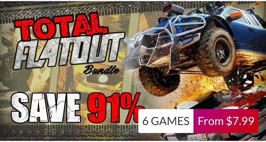 Total FlaOut Bundle - 6 jeux sur PC (Steam - Dématérialisés). Ex: Flatout 3: Chaos & Destruction