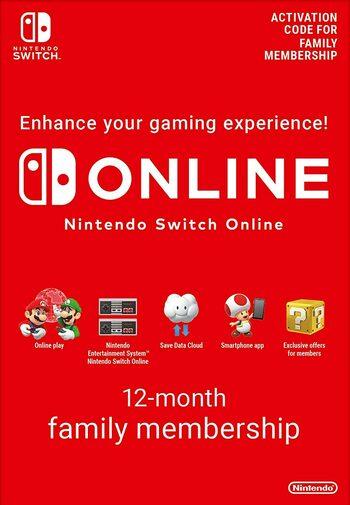 Abonnement Nintendo Switch Online Familial - 12 mois (Dématérialisé)