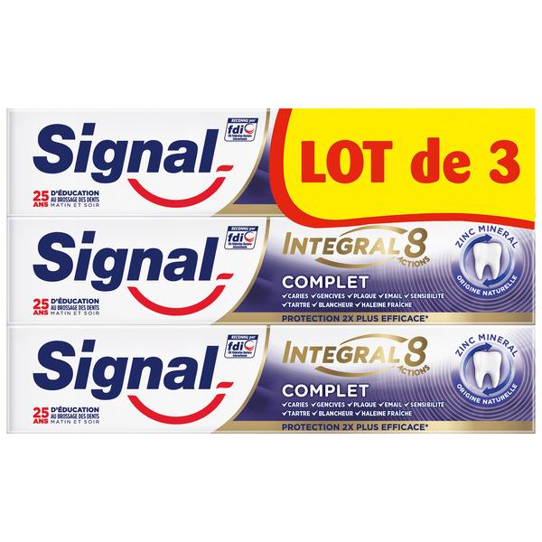 Lot de 3 Dentifrices SIgnal Integral 8 (Via 3,06€ sur Carte Fidélité)