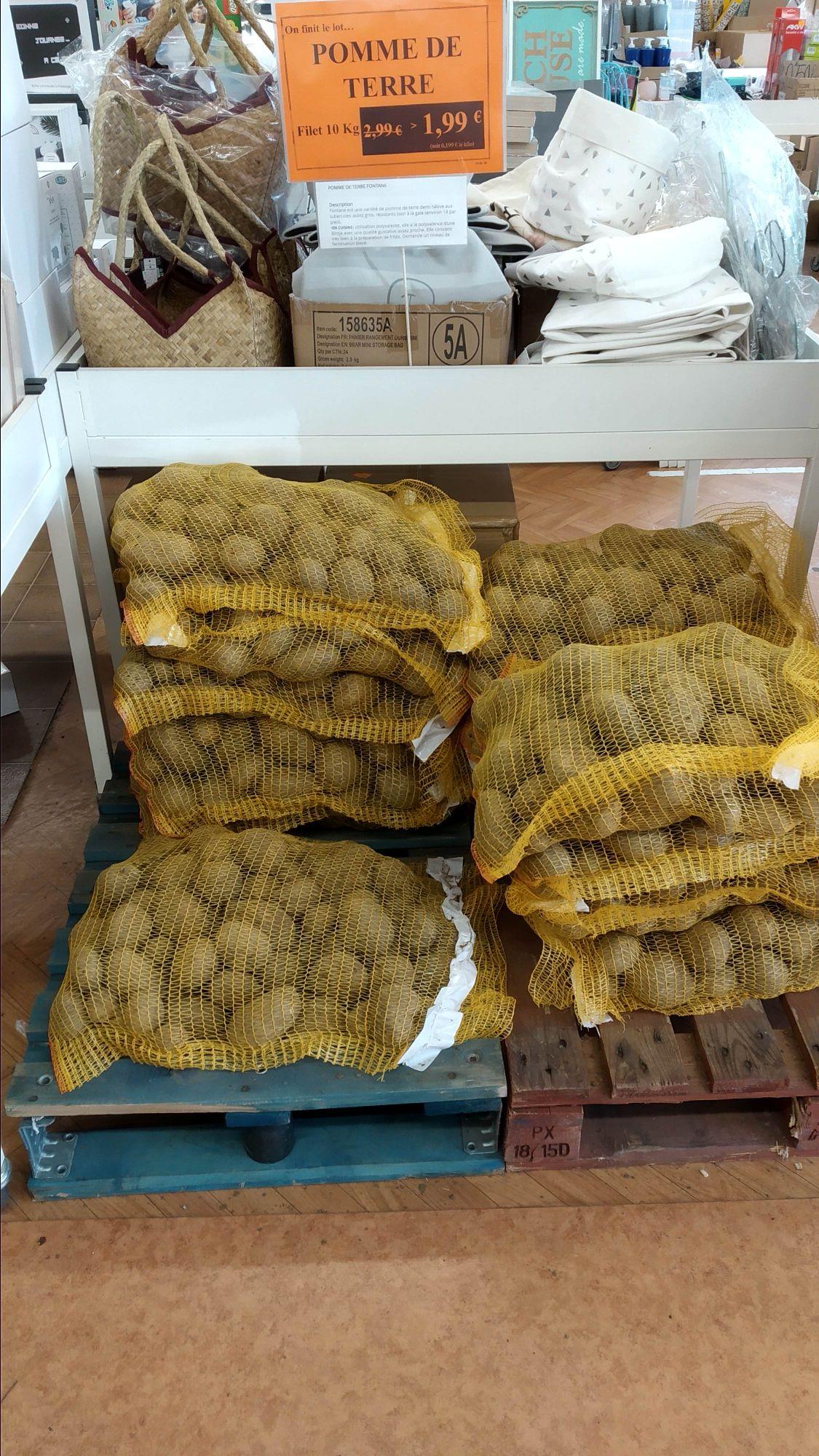 Sac de Pommes de terre variété Fontane - 10Kg (Mille Stocks - Luçon et La Roche sur Yon 85)