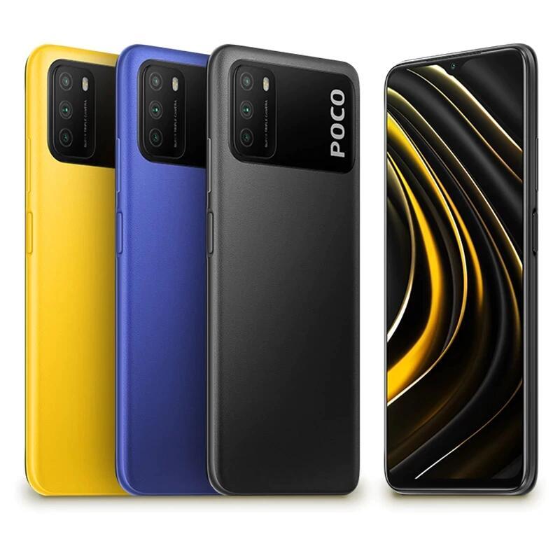 """Smartphone 6.53"""" Xiaomi Poco M3 - SnapDragon 662, 4 Go de RAM, 64 Go, Noir, Bleu ou Jaune"""