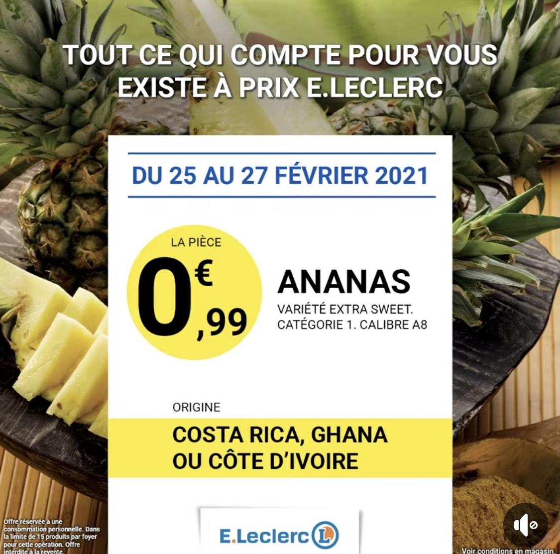 Ananas Extra Sweet - La Pièce, Catégorie 1