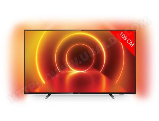 "TV LED 43"" Philips 43PUS7805 - 4K UHD, HDR10+, Smart TV, Ambilight 3 côtés (2020)"