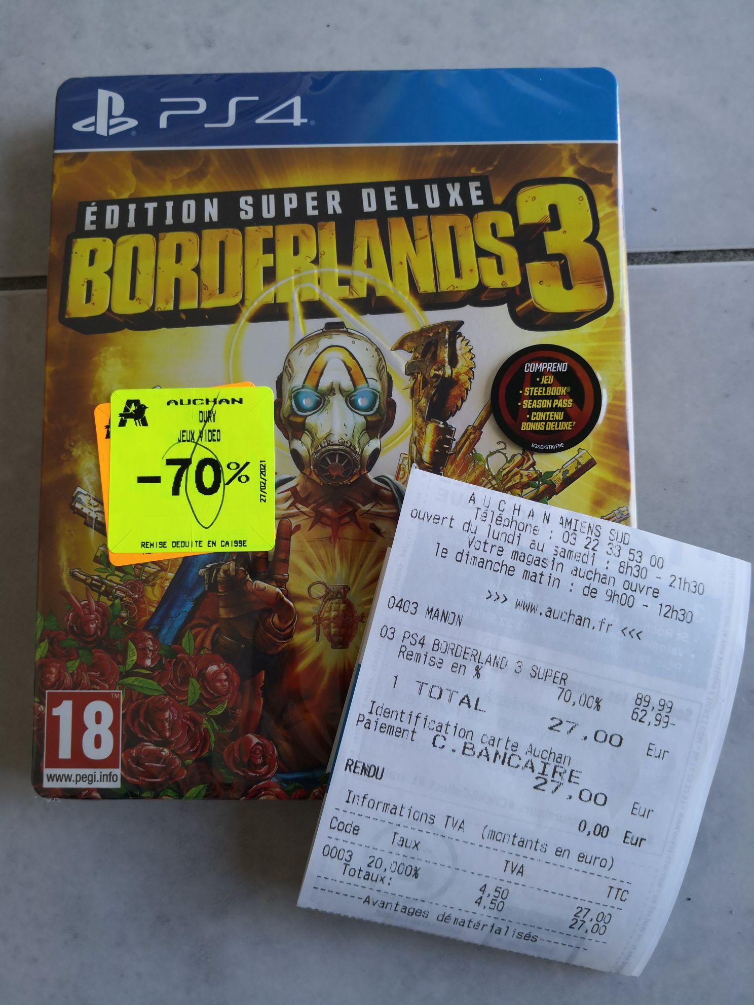 Borderlands 3: Super Deluxe Edition sur PS4 (Amiens Sud 80)