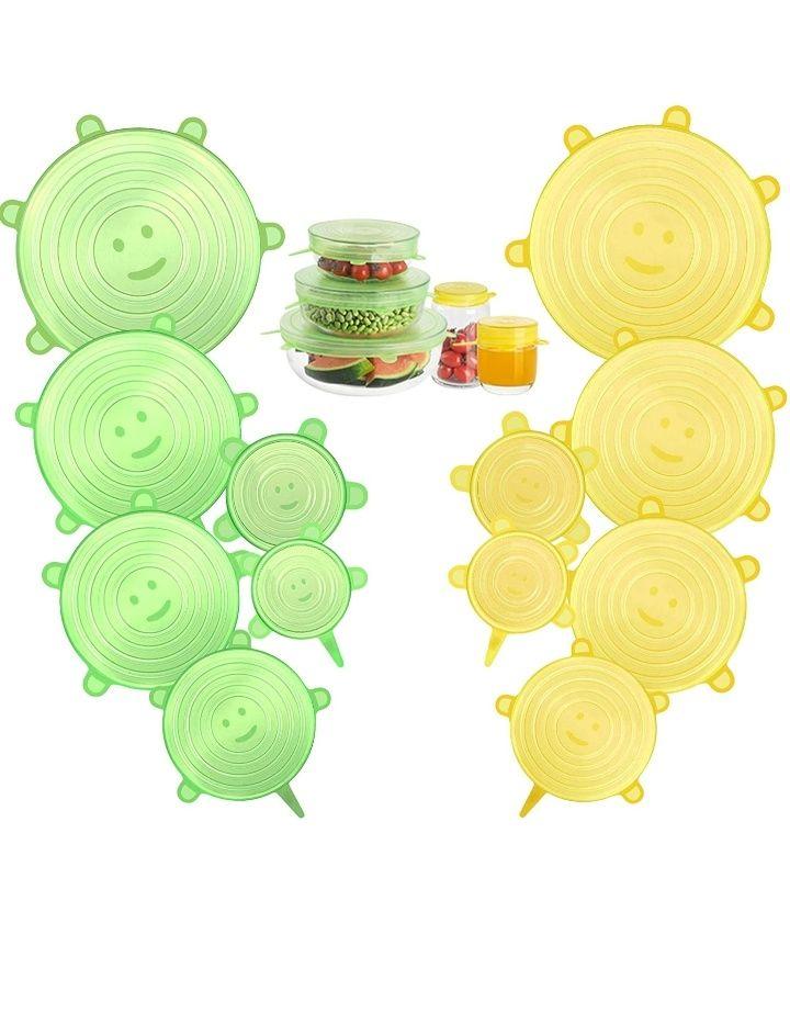 Couvercles alimentaires en silicone Cishanjia - 12 pièces (Vendeur tiers)