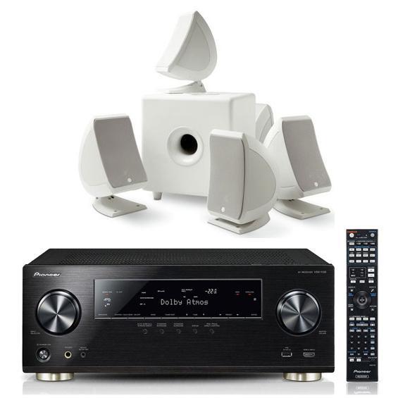 Ampli Home Cinema 5.2.2 Pioneer VSX-930 noir + Pack Focal Sib & Cub 3 blanc