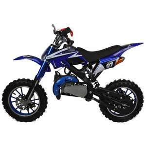 Mini moto enfant Zipper dirt bike 50cc à essence - Bleu (nitrotek.fr)