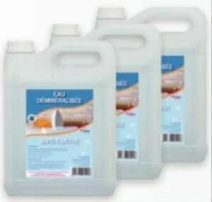 Lot de 3 bidons d'eau déminéralisée - 3 x 5 L