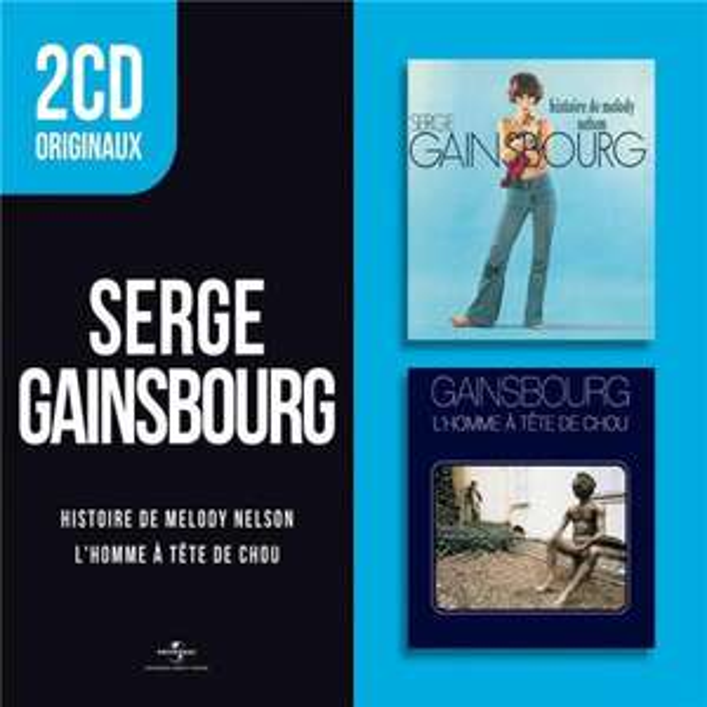 Coffret 2 CD Serge Gainsbourg : Histoire de Melody Nelson / L'homme à tête de chou