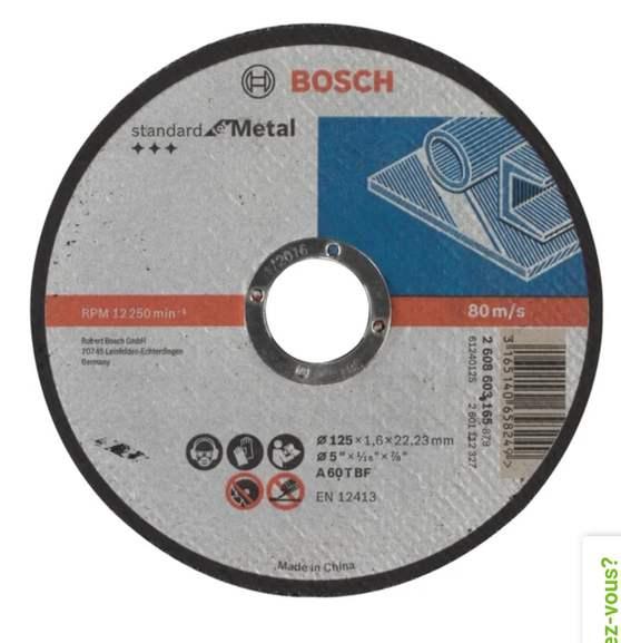 Disque pour métal Bosch - 125 x 1.6 x 22.23mm