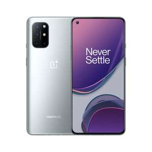 "Smartphone 6.55"" OnePlus 8T 5G - full HD+ 120 Hz, SnapDragon 865, 8 Go de RAM, 128 Go, argent, version Inde (+ 14.25€ en Rakuten points)"