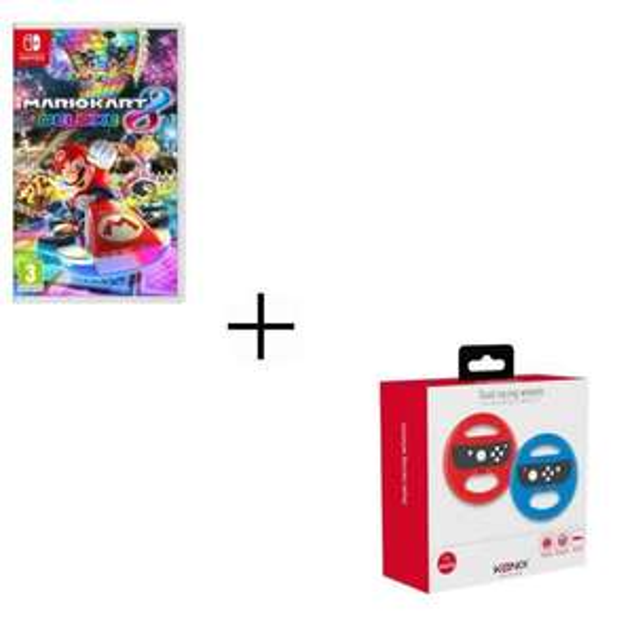 Jeu Mario Kart 8 Deluxe Jeu Switch + 2 Volants Konix