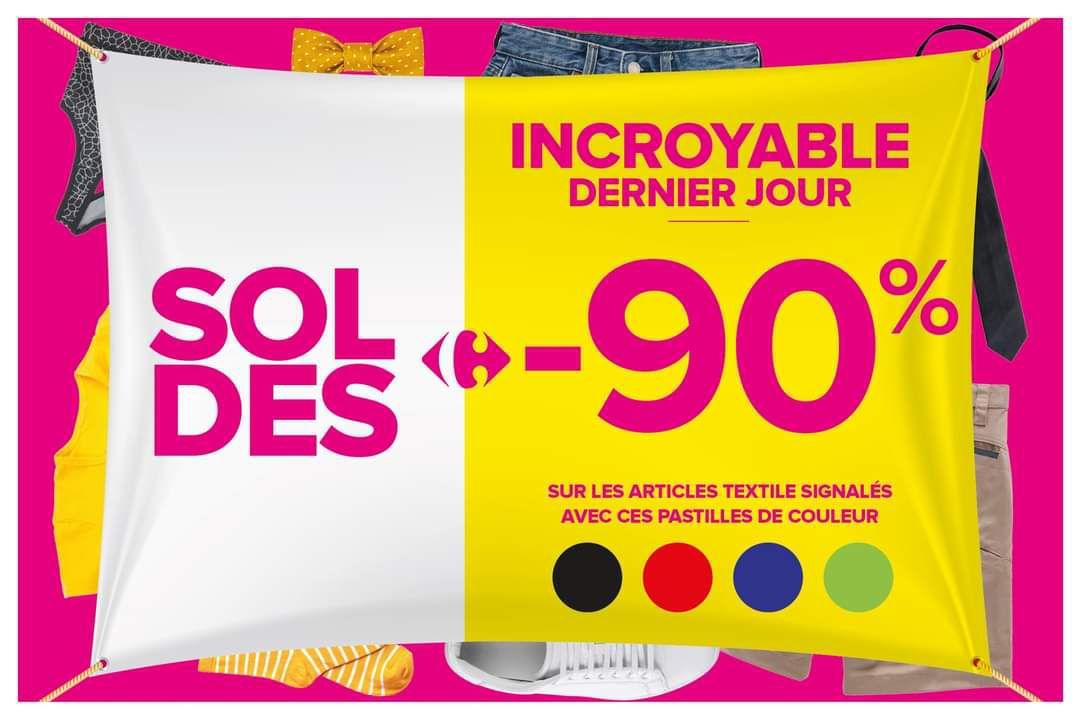 90% de réduction sur une sélection d'articles textile - Lescar (64)