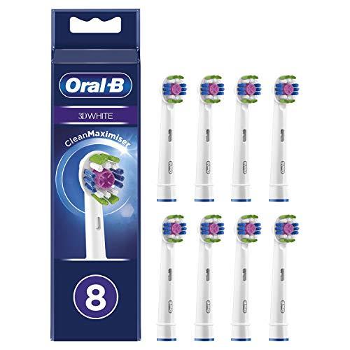 Lot de 8 Brossettes de rechange Oral-B 3D White CleanMaximiser