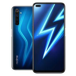 """Smartphone 6.6"""" Realme 6 Pro - 8 Go RAM, 128 Go, Bleu + Coque"""