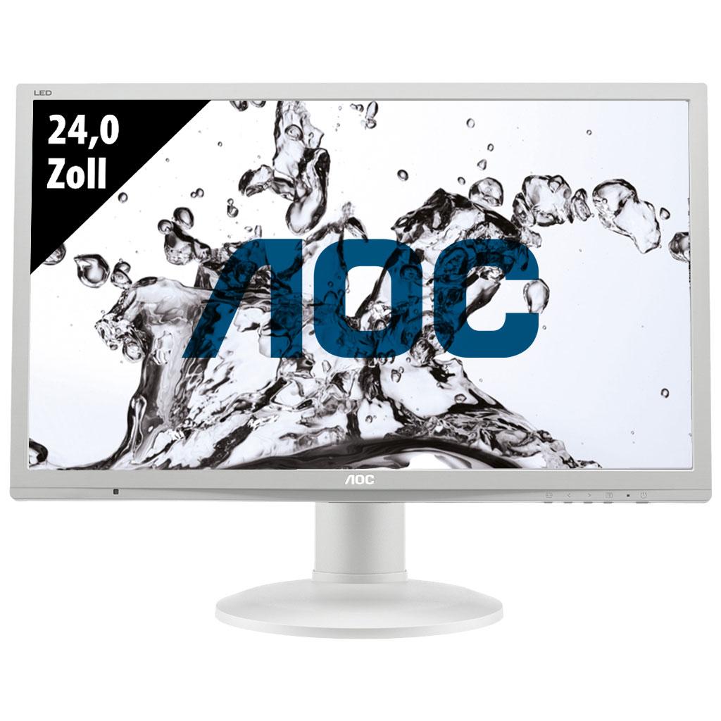 """Ecran 24"""" AOC E2460PQ - Full HD, Dalle TN, 2 ms (Reconditionné - Grade A)"""