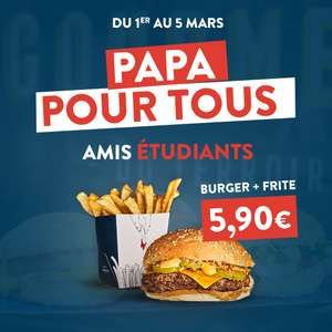 [Etudiants] Menu Burger + Frites
