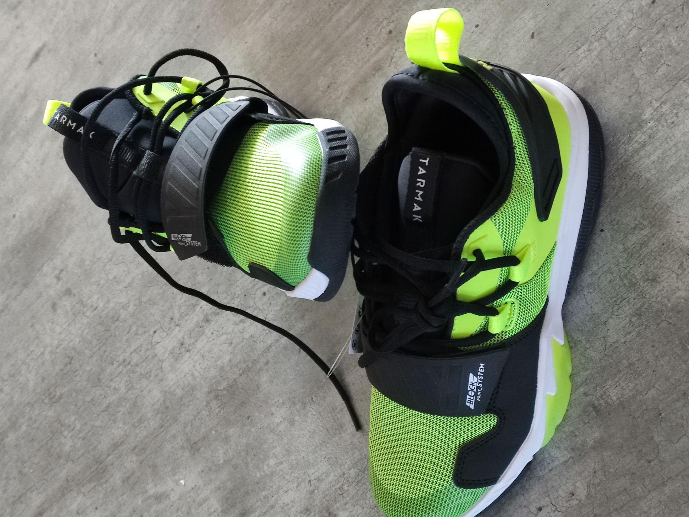 Chaussures de basket-ball pour enfant Tarmak SS500M - jaune ou rouge (du 34 au 37) - Cesson (77)