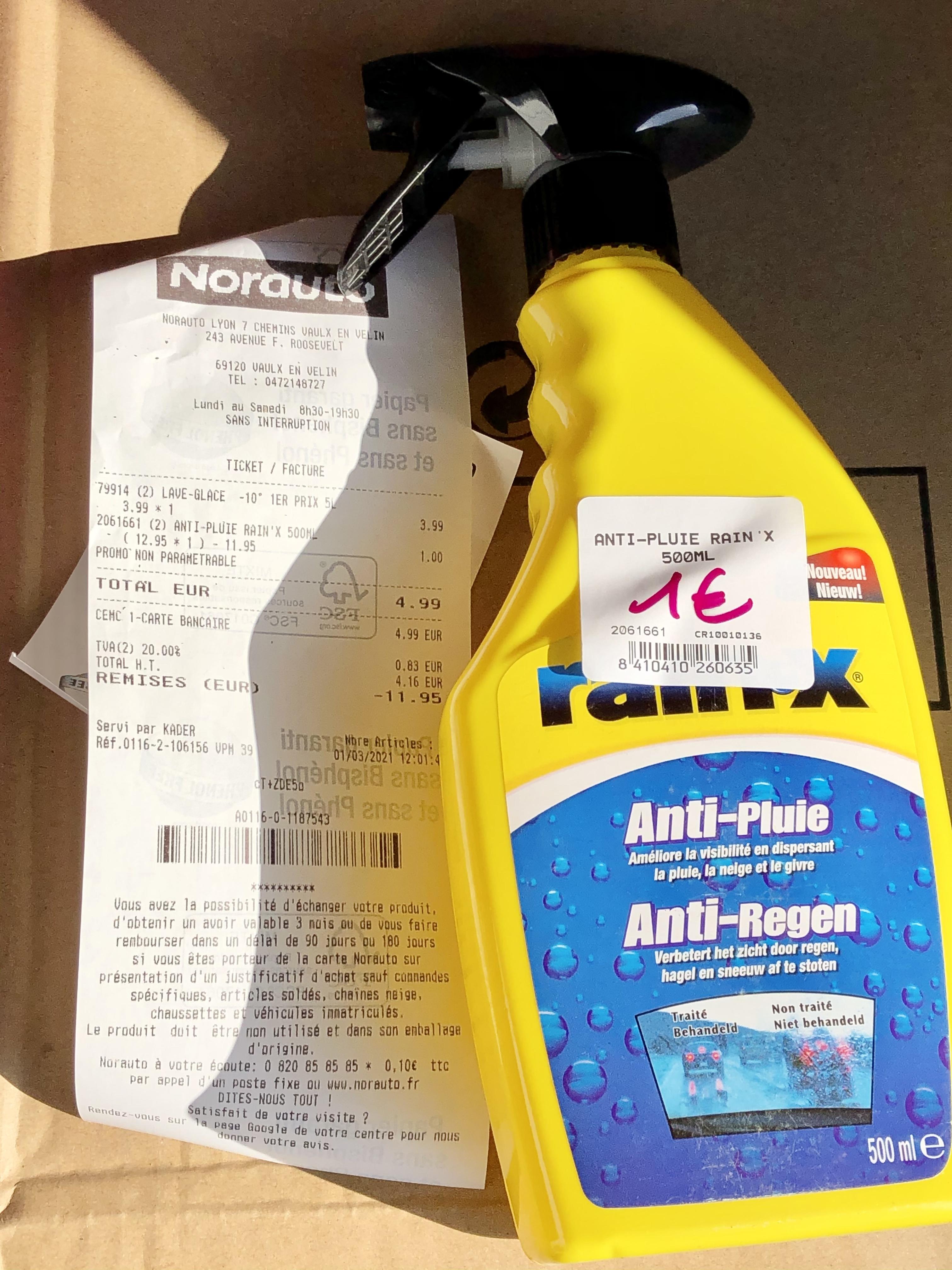 Spray Anti-Pluie Rain-X - 500 ml (Vaulx-en-Velin 69)