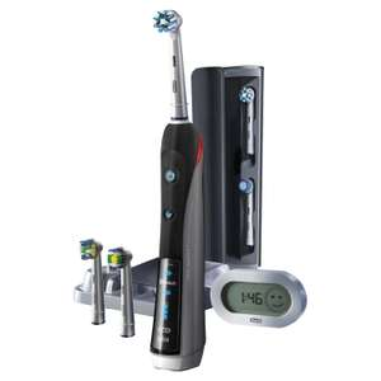 Brosse à dents électrique rechargeable Oral-B Black Pro 7000 Smart Series - noire
