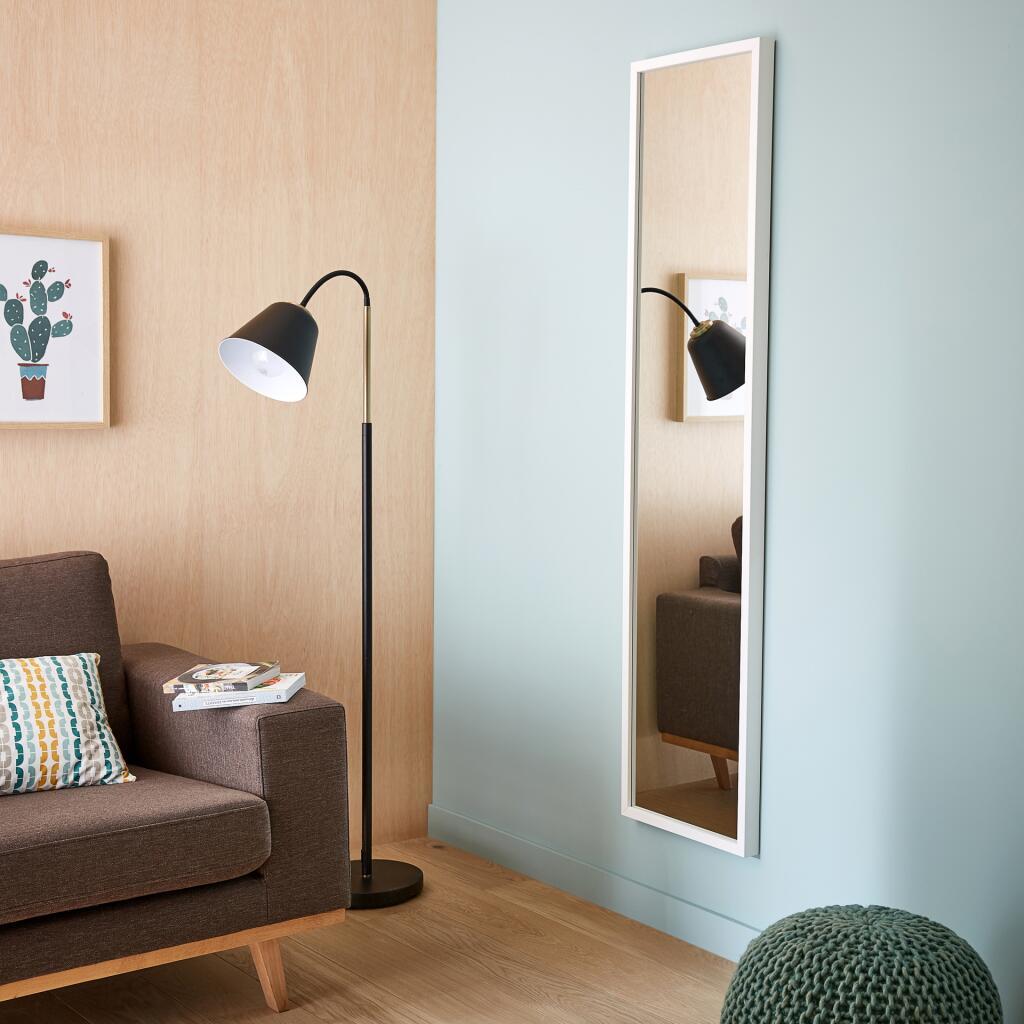 Miroir rectangulaire Pure 160x40 cm - Coloris Blanc ou Noir