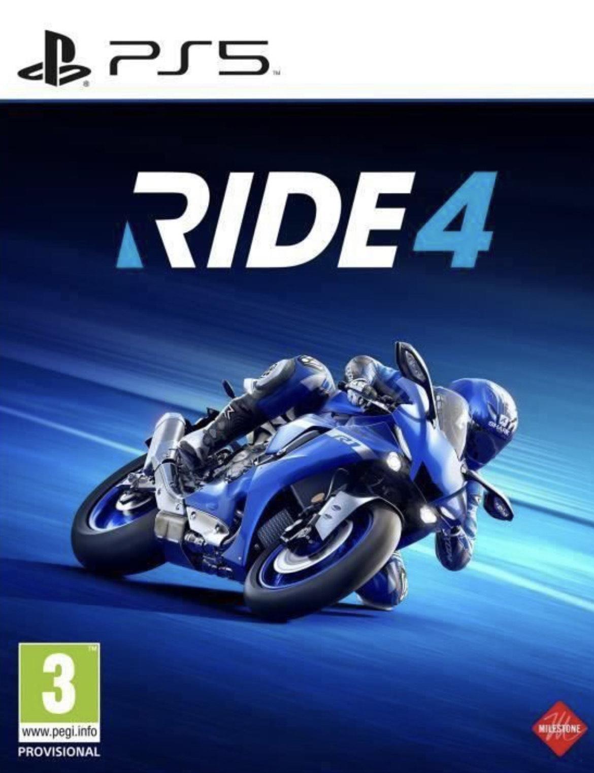 RIDE 4 sur PS5