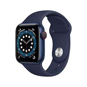 Montre connectée Apple Watch Series 6 (GPS + Cellular) - 40 mm, Aluminium bleu avec bracelet sport bleu marine