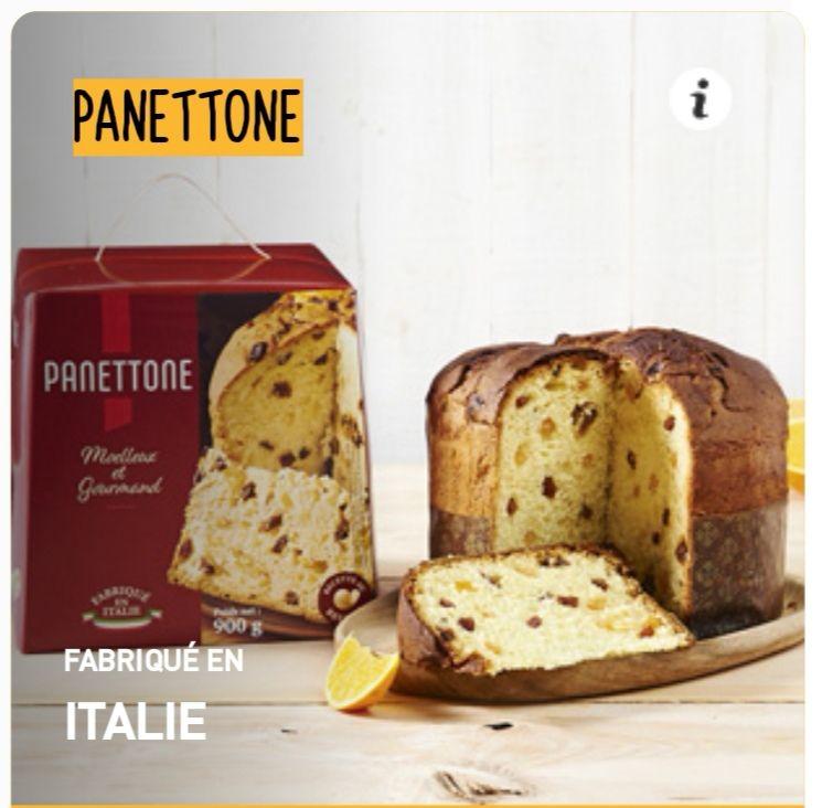 Lot de 2 Panettones Fabriqué en Italie (2 x 900g)
