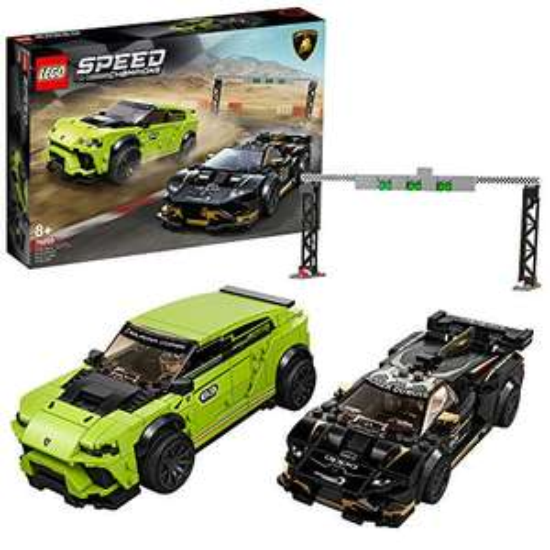 Jeu de construction Lego Speed Champions - Lamborghini Urus ST-X & Lamborghini Huracán Super Trofeo Evo Racing (76899)