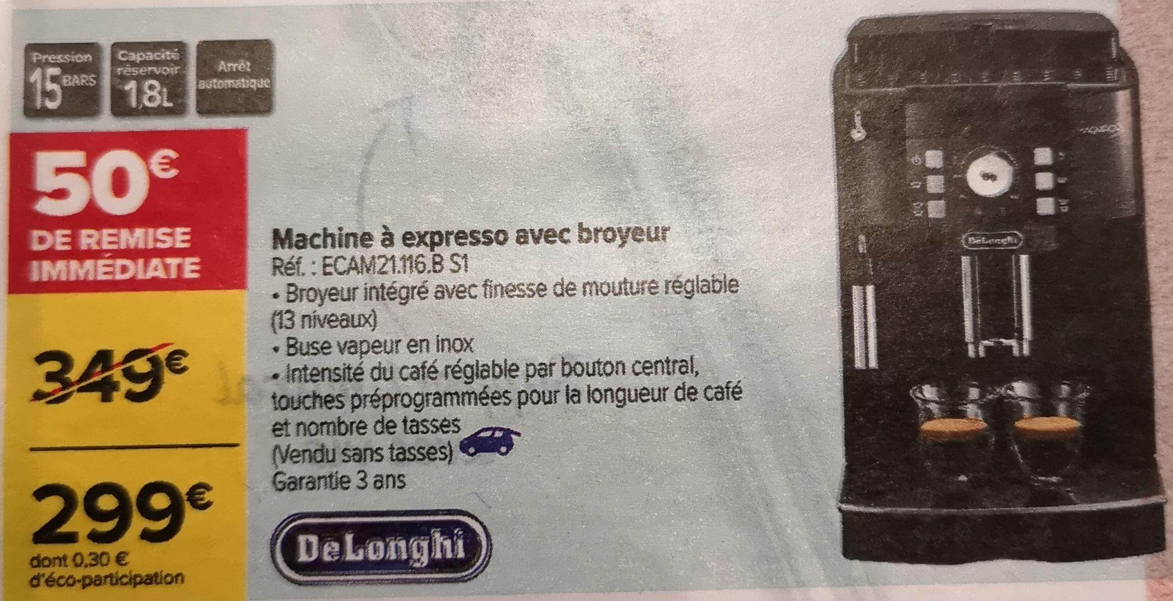 Machine expresso avec broyeur De'Longhi Magnifica S ECAM 21.116.B S1