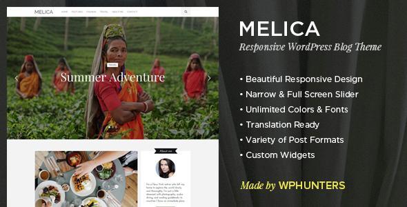 Thème Wordpress Melica gatuit