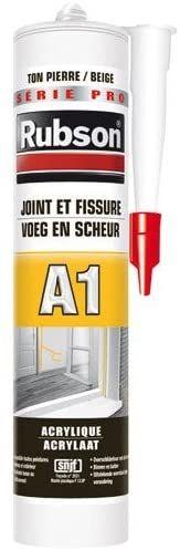 Rubson Mastic Acrylique pour Intérieur et Extérieur, Joint et Fissure Façade Ton Pierre Cart - 300ml