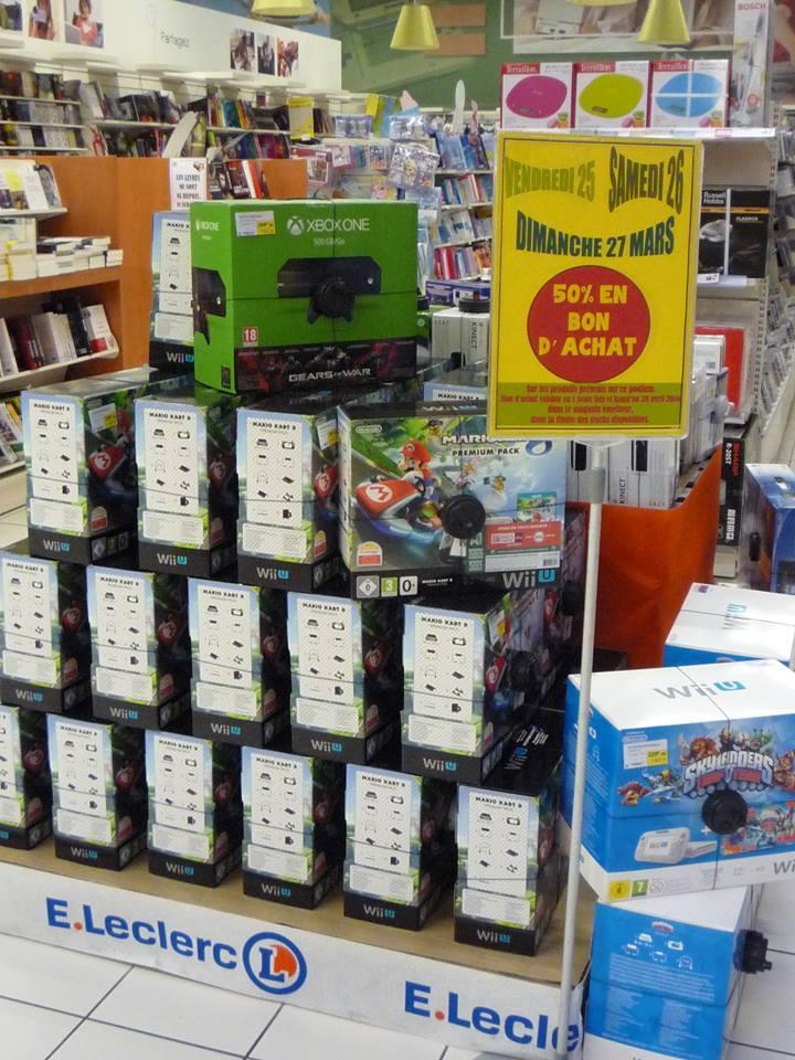 50% crédités en bon d'achat sur une sélection de consoles (Wii U, Xbox One, PS4, 3DS...) - Ex : Wii U Basic Pack Skylanders Trap Team