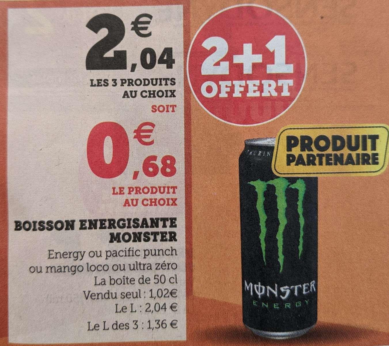 Lot de 3 canettes Monster Energy - U Express (Haute Goulaine 44)
