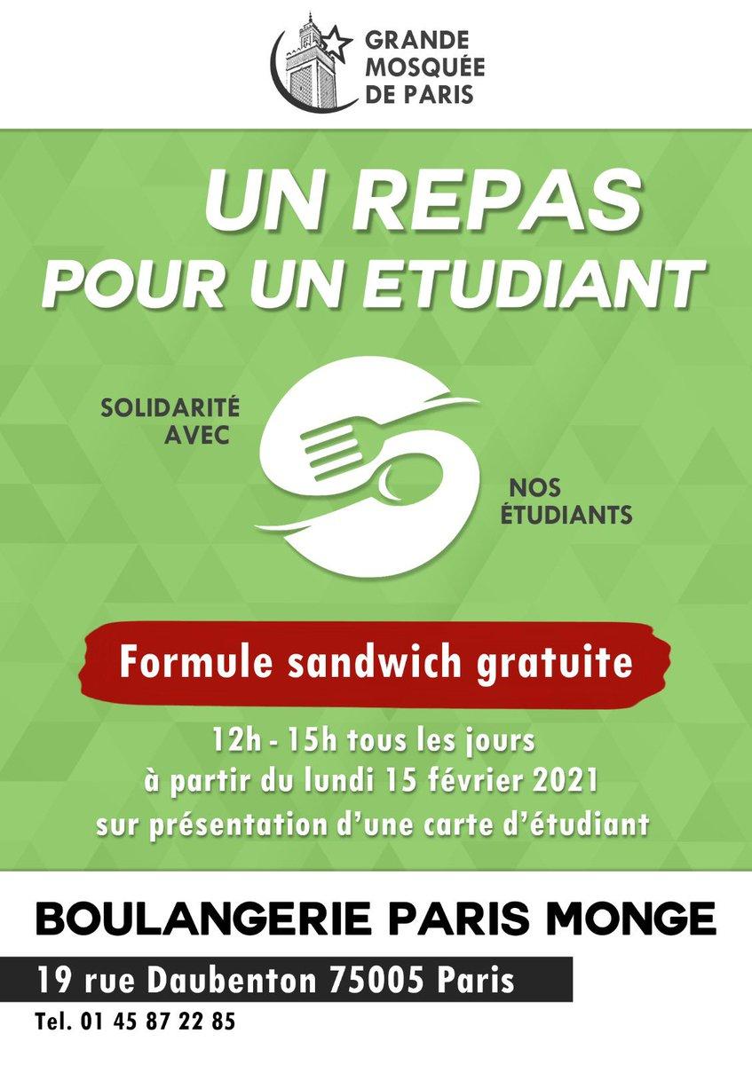 [Étudiants] Distribution gratuite de formules Sandwich - Boulangerie Paris Monge 5ème (75)