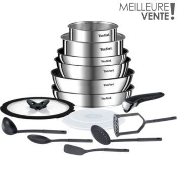 Batterie de cuisine Tefal Ingenio Emotion L925SF14 - 15 pièces